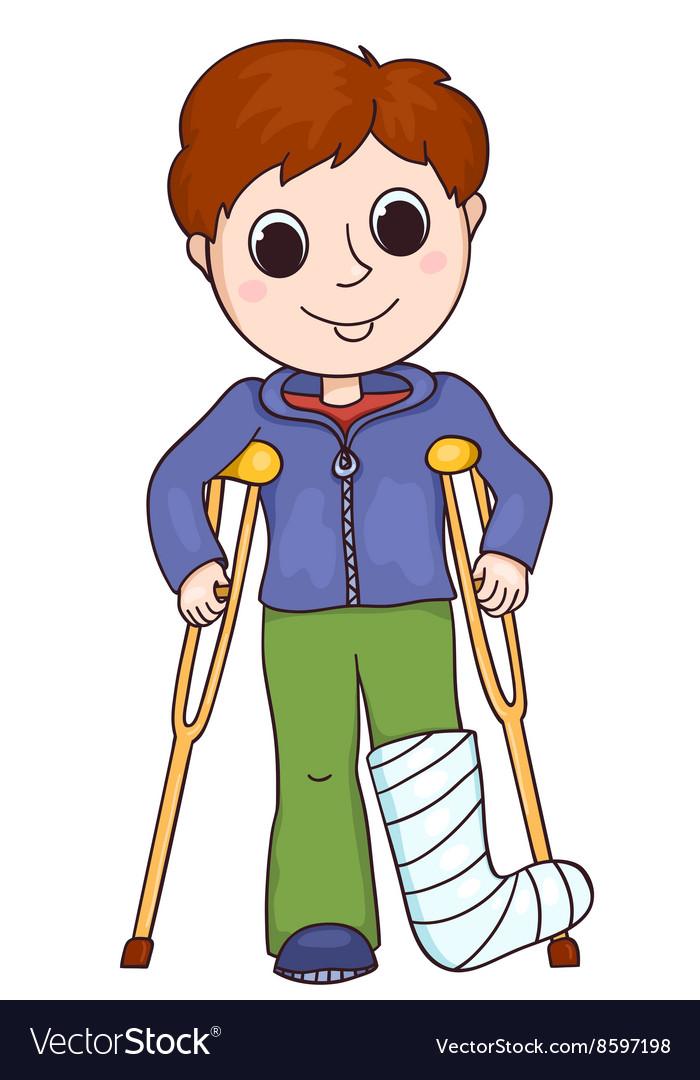 Мальчик сломал ногу картинка
