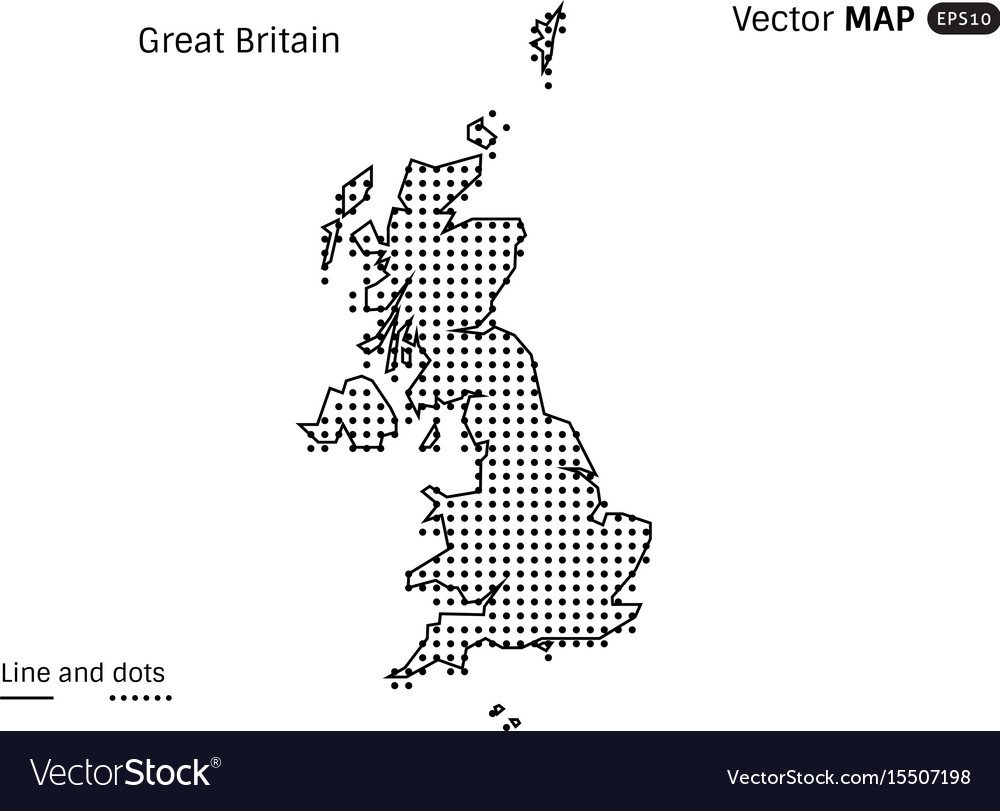 Dotted world map Royalty Free Vector Image - VectorStock