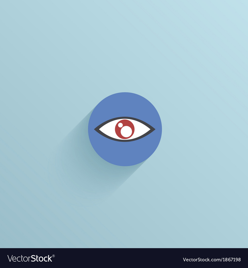 Flat circle icon on blue background Eps10