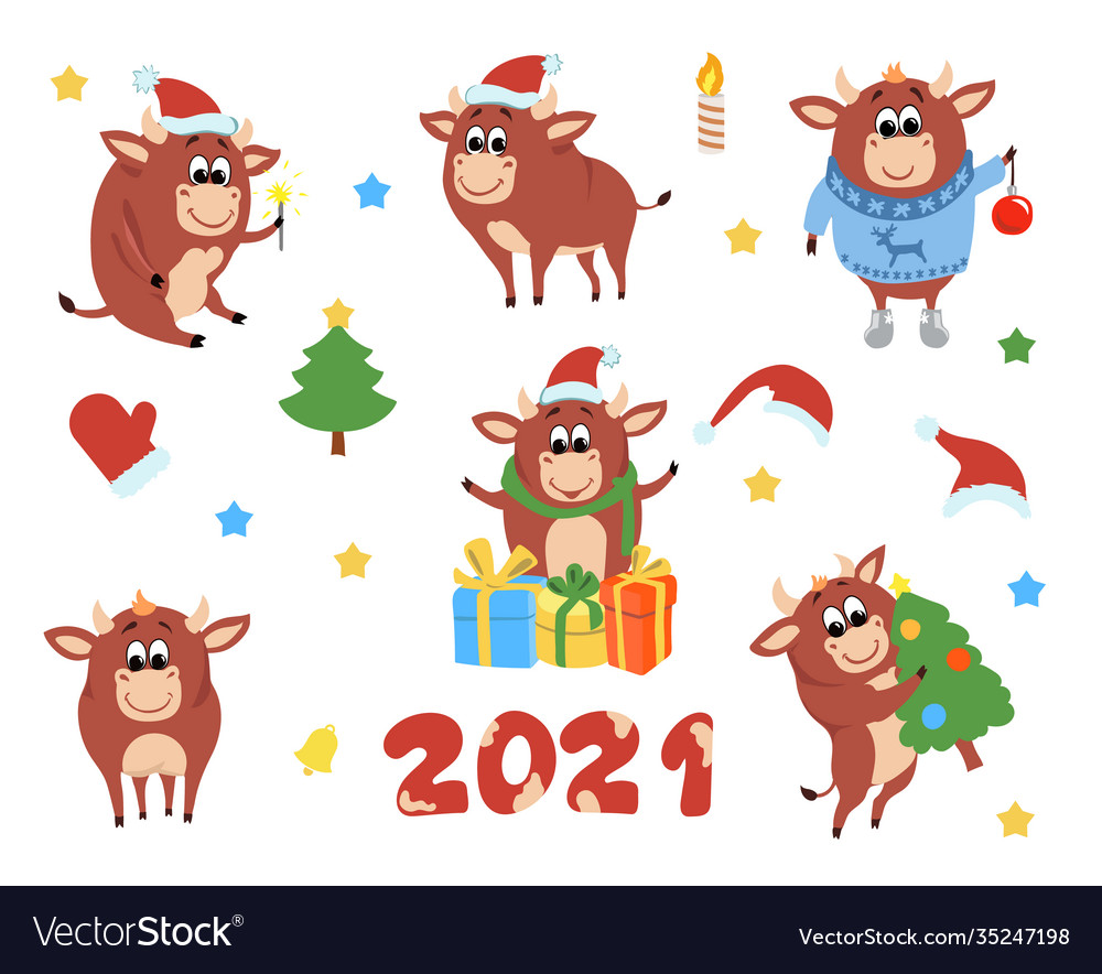 Happy chinese new year cows and bulls