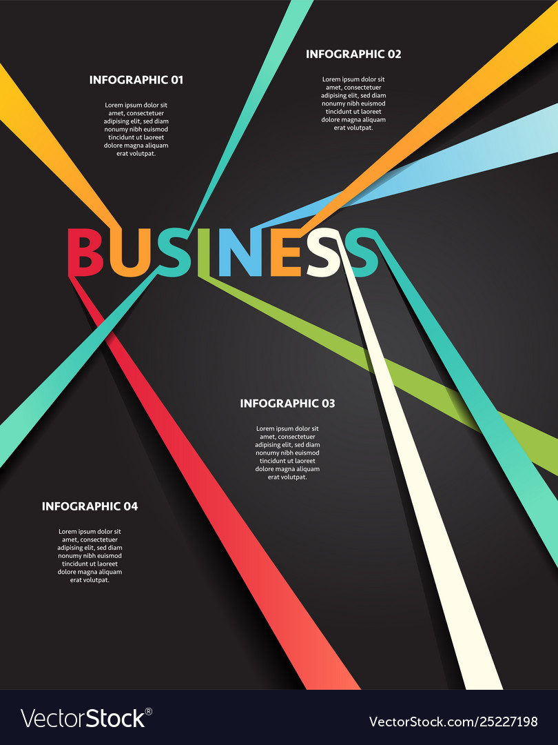Infographic business connection line