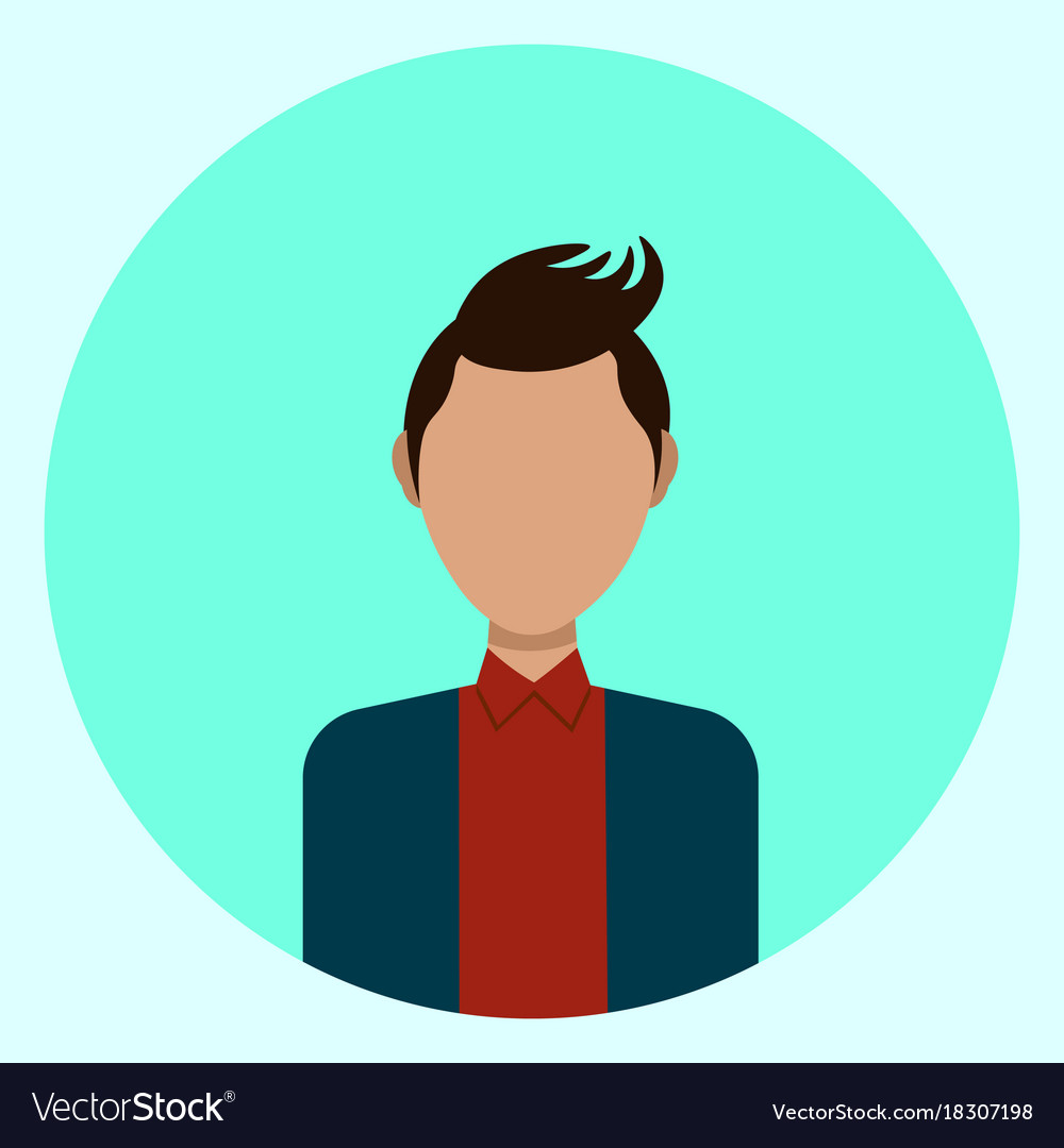 Male Avatar Profile Icon Round Man Face Royalty Free Vector