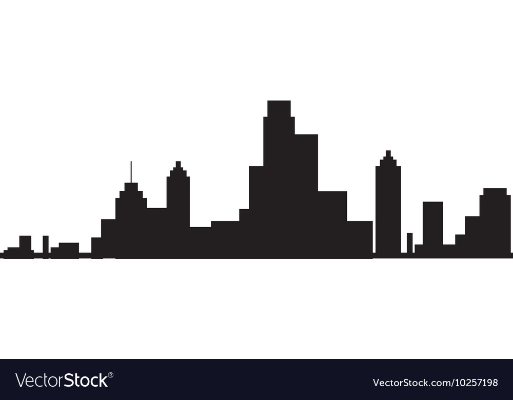 new york city view silhouette royalty free vector image rh vectorstock com new york skyline vector art new york skyline silhouette vector