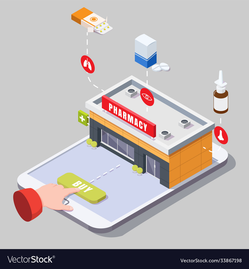 Online pharmacy and drugstore concept