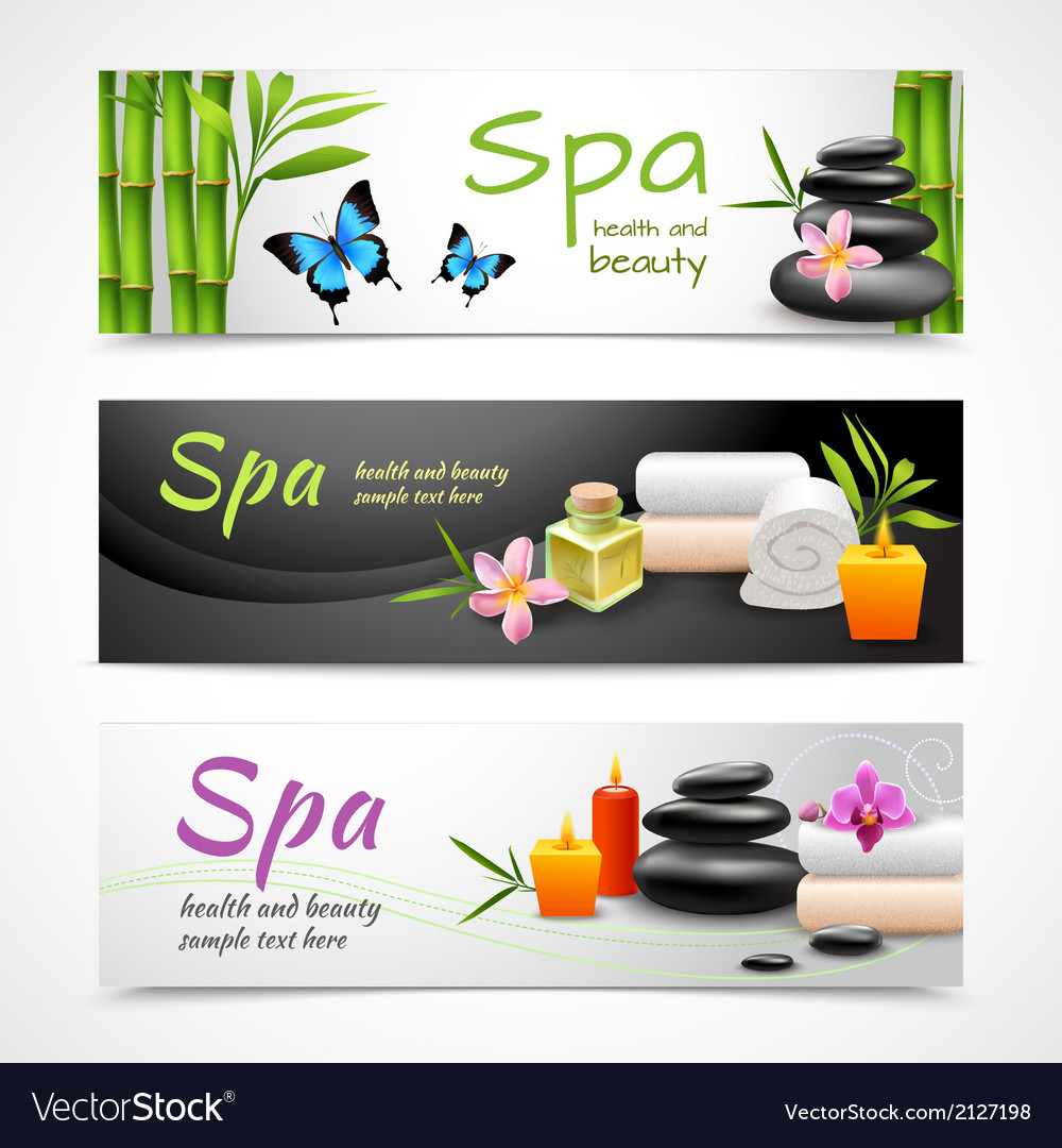 Realistic Spa Banners Royalty Free Vector Image