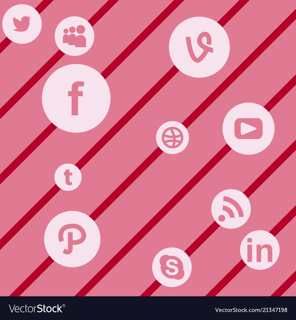 Social media network background with circles and