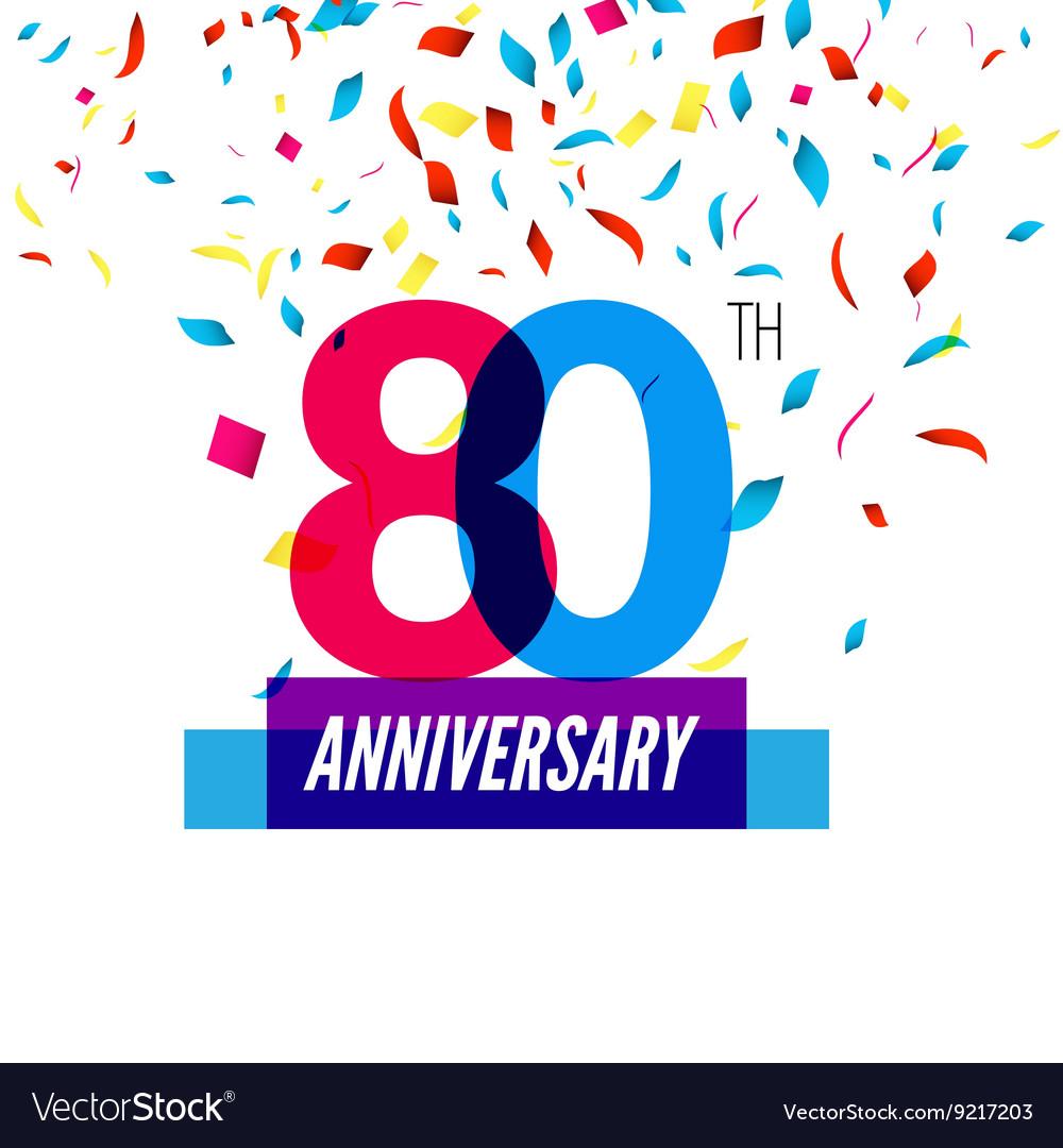 Anniversary design 80th icon anniversary