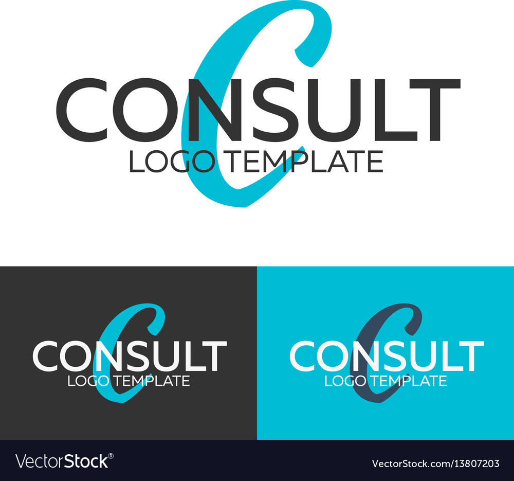 Consult logo letter c logo logo template
