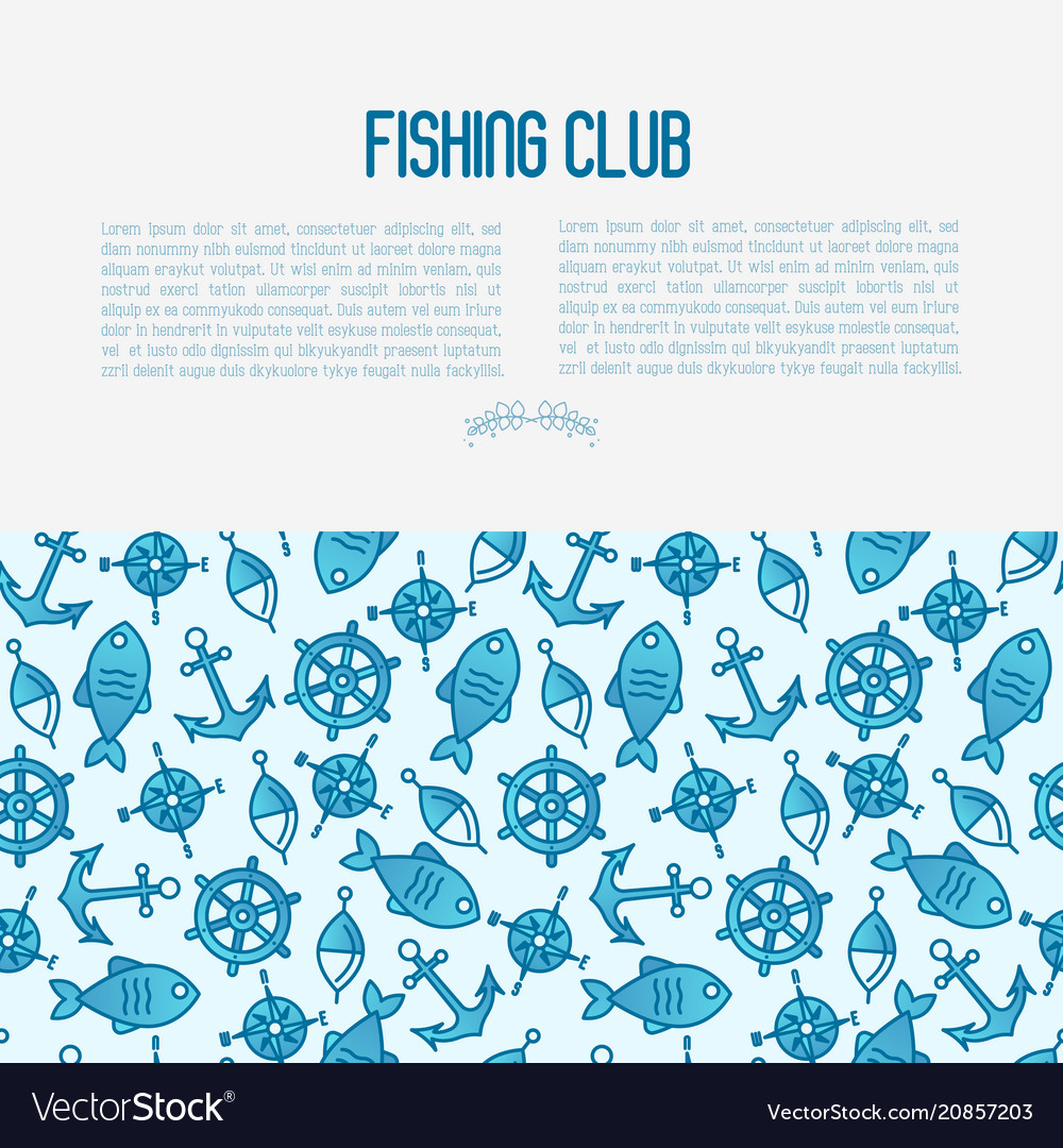 Fishing club concept with fish bobber