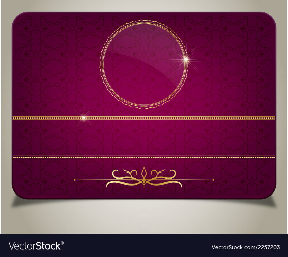 Purple gift card