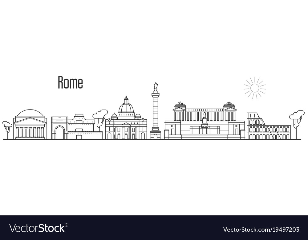 Rome and vatican city skyline - cityscape with