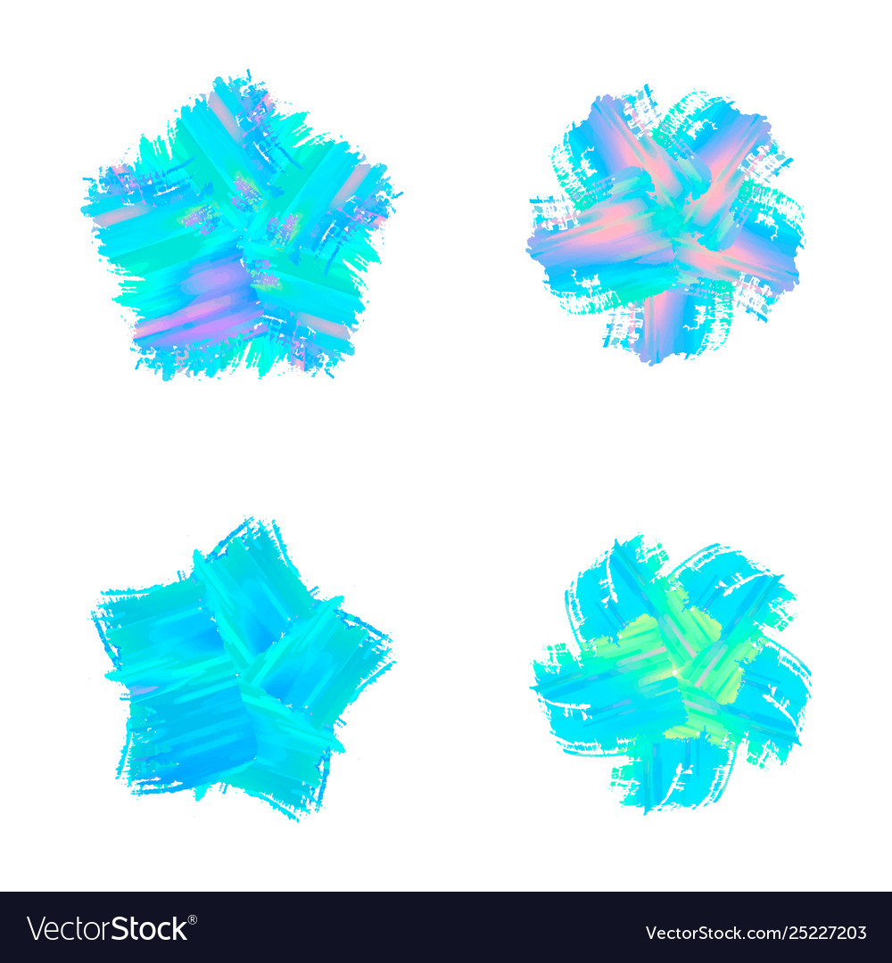 Set abstract color modern graphic elements and