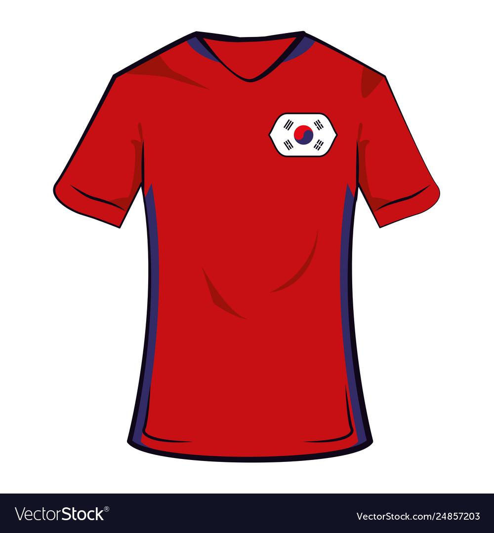 4ff6f3b23 South korea soccer tshirt Royalty Free Vector Image