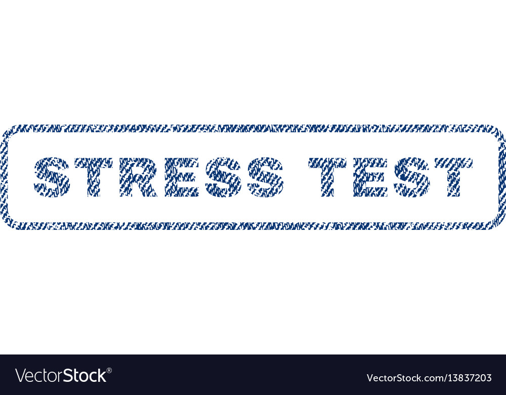 Stress test textile stamp