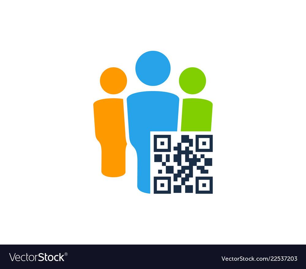 Team barcode logo icon design