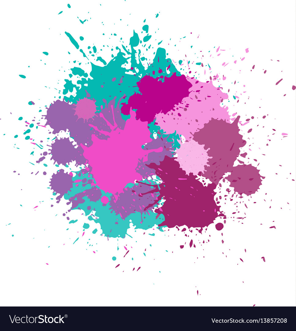 Blots in bright colors