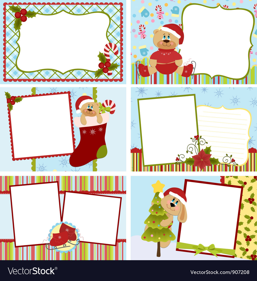 Collection Of Christmas Greetings Cards Royalty Free Vector