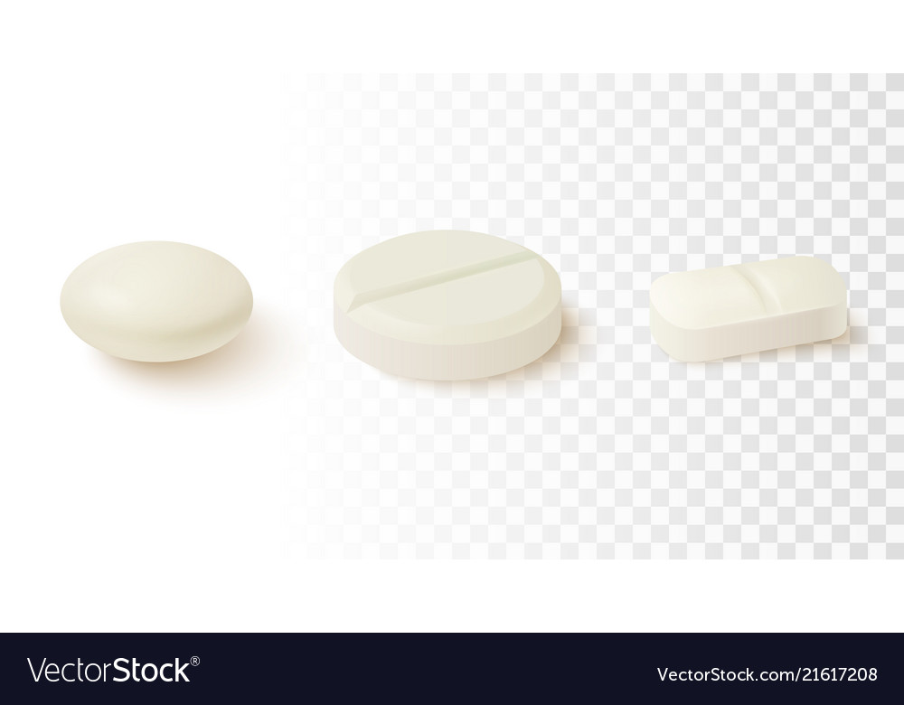 Collection of oval round and capsule shaped