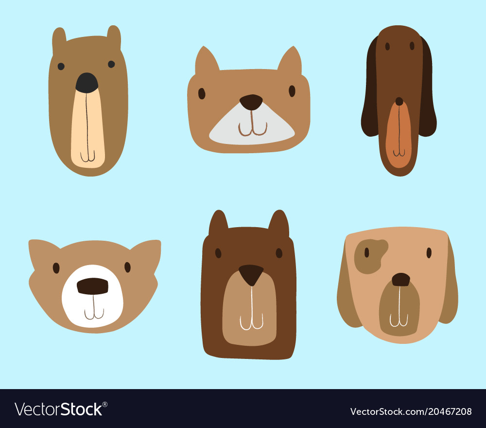 dogs clipart set for commercial use royalty free vector  vectorstock