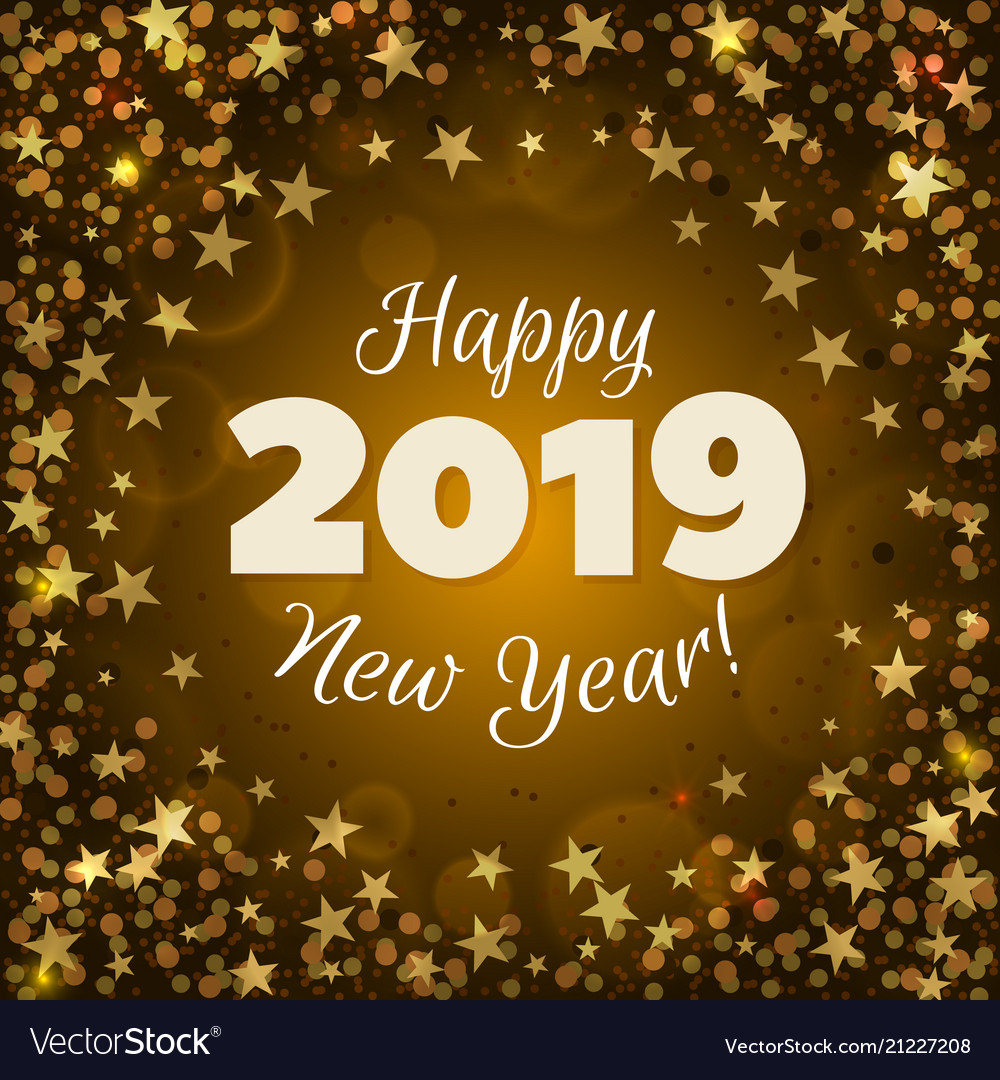 Happy new year 2019 Royalty Free Vector Image - VectorStock
