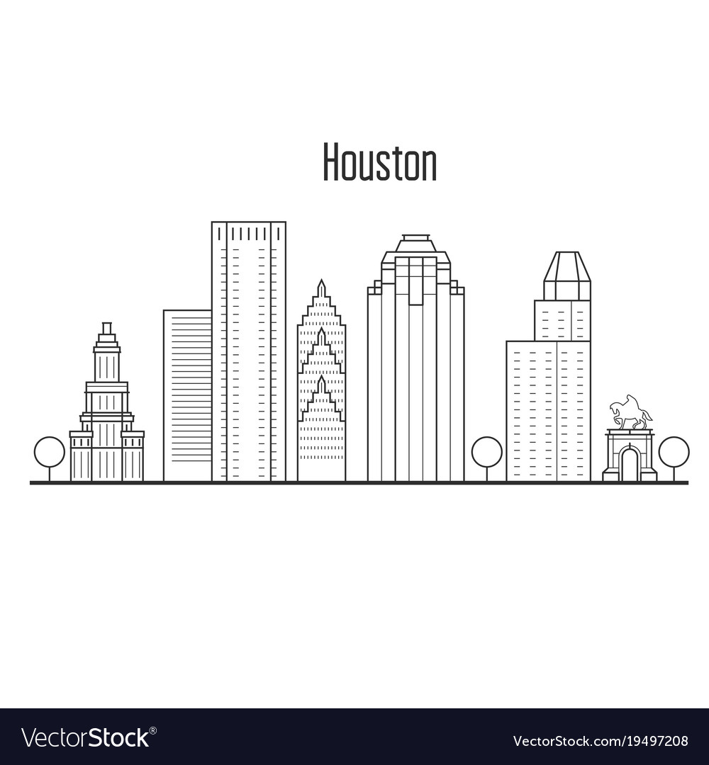 Houston skyline downtown cityscape
