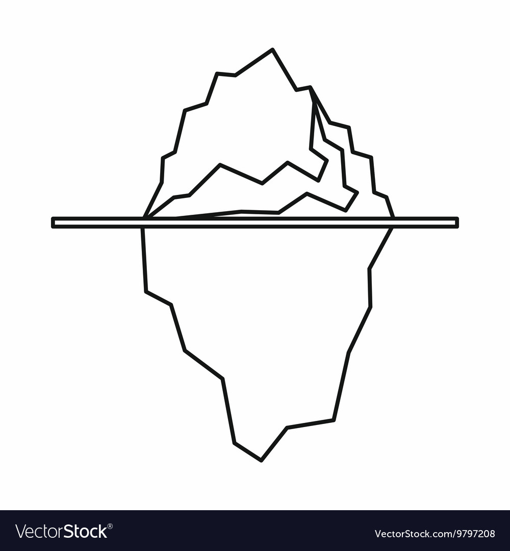 new concept 45648 3bf0d Iceberg icon outline style vector image