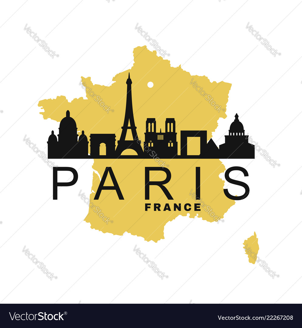 Paris and map france
