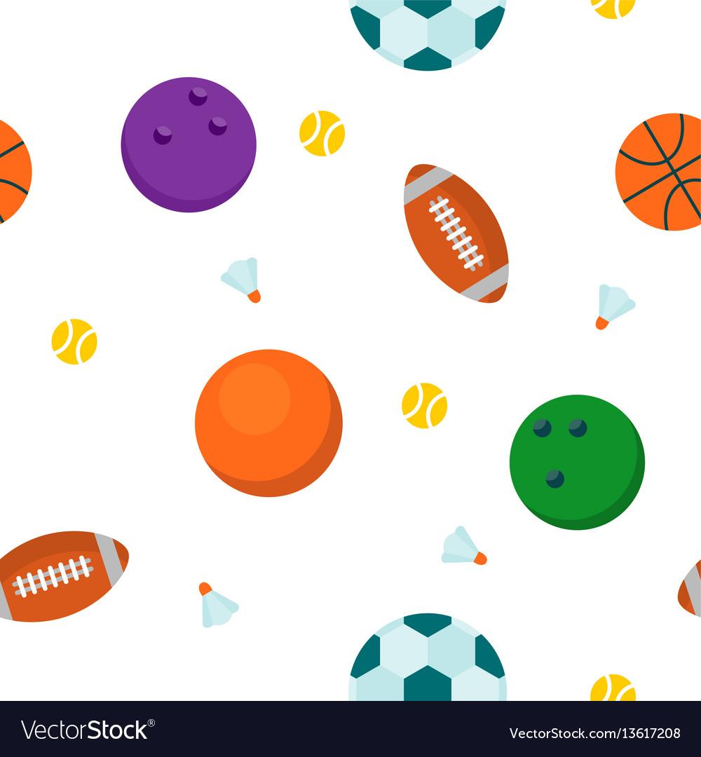 Sport ball seamless pattern vector image