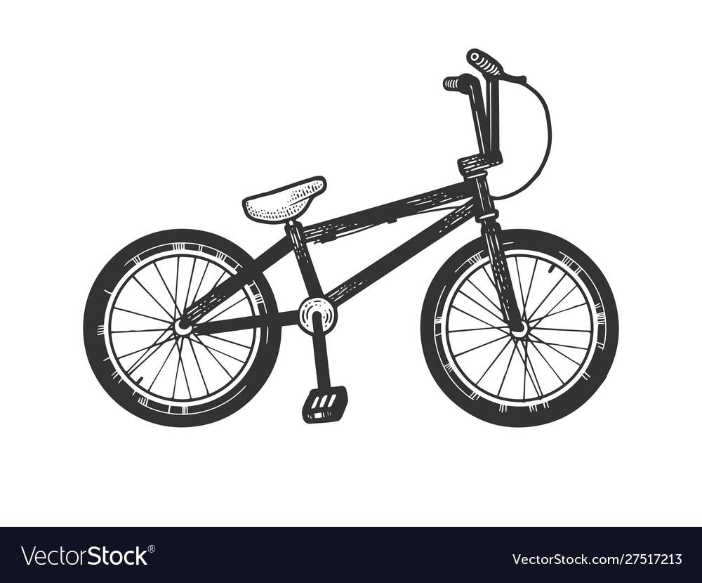 Bmx bike sport bicycle sketch engraving