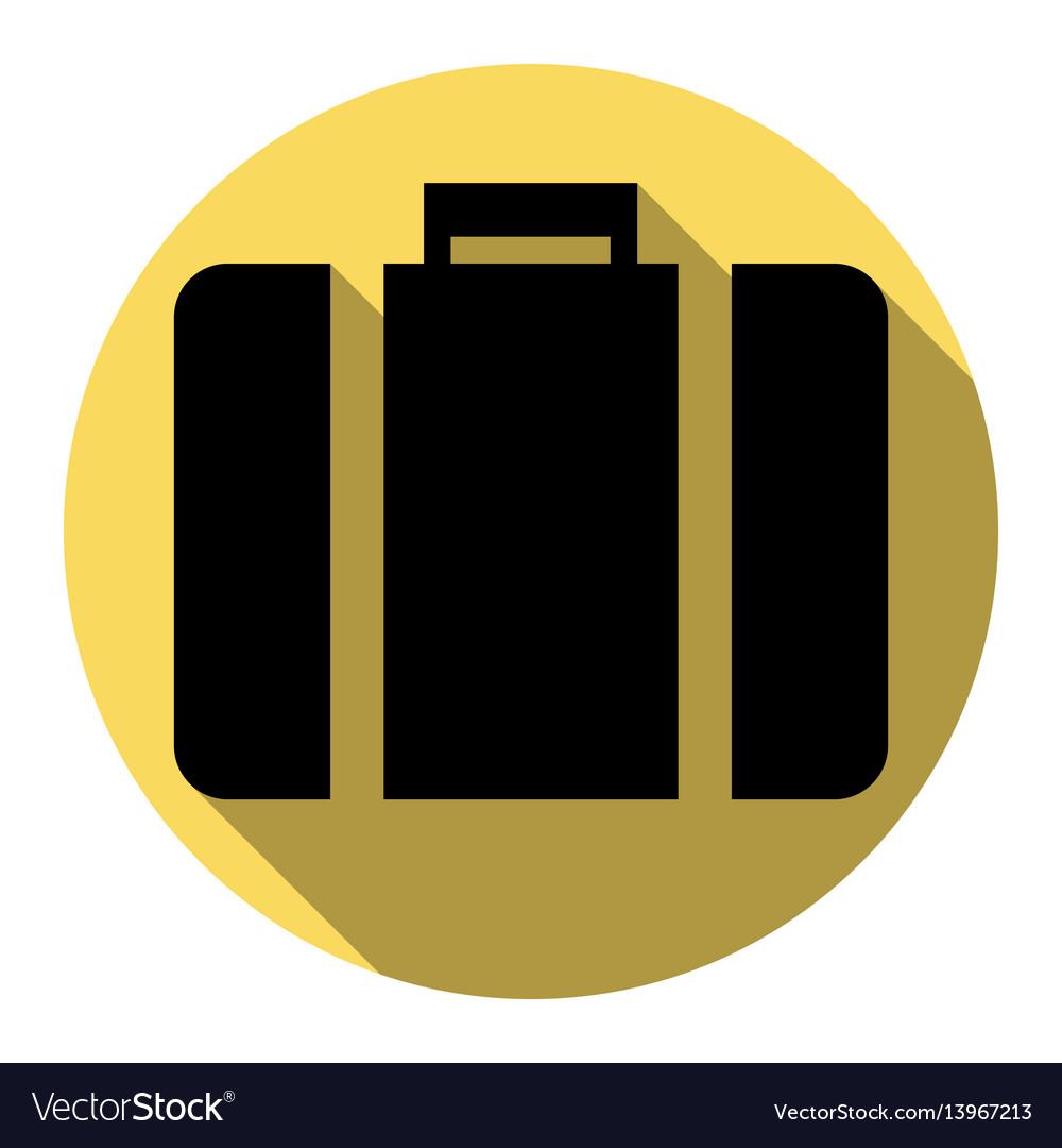 Briefcase sign flat black
