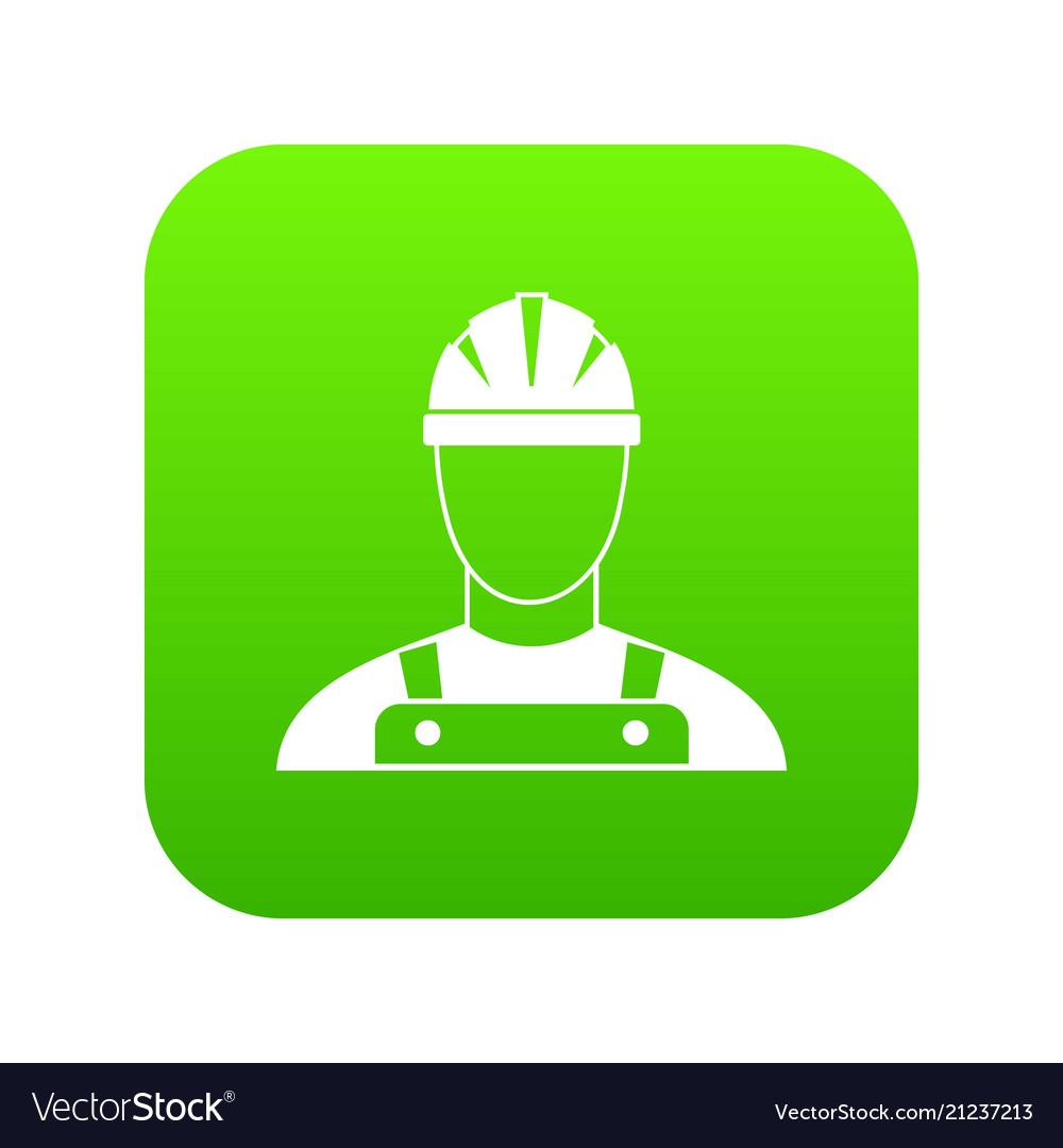 Builder icon digital green