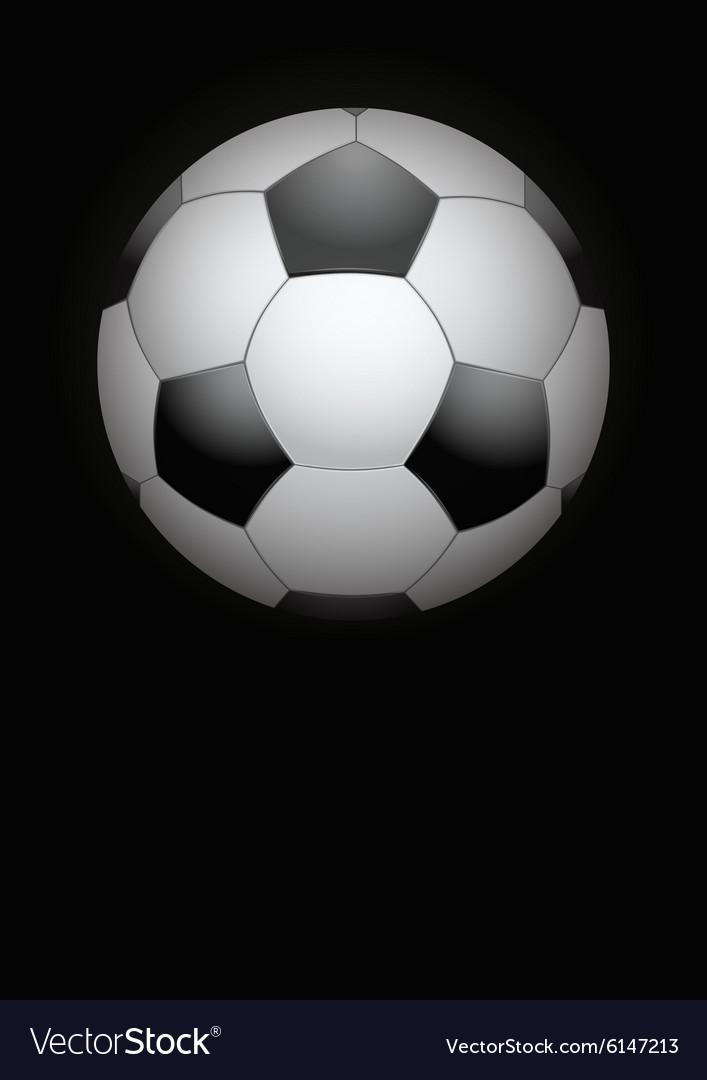 Dark Background of football ball vector image