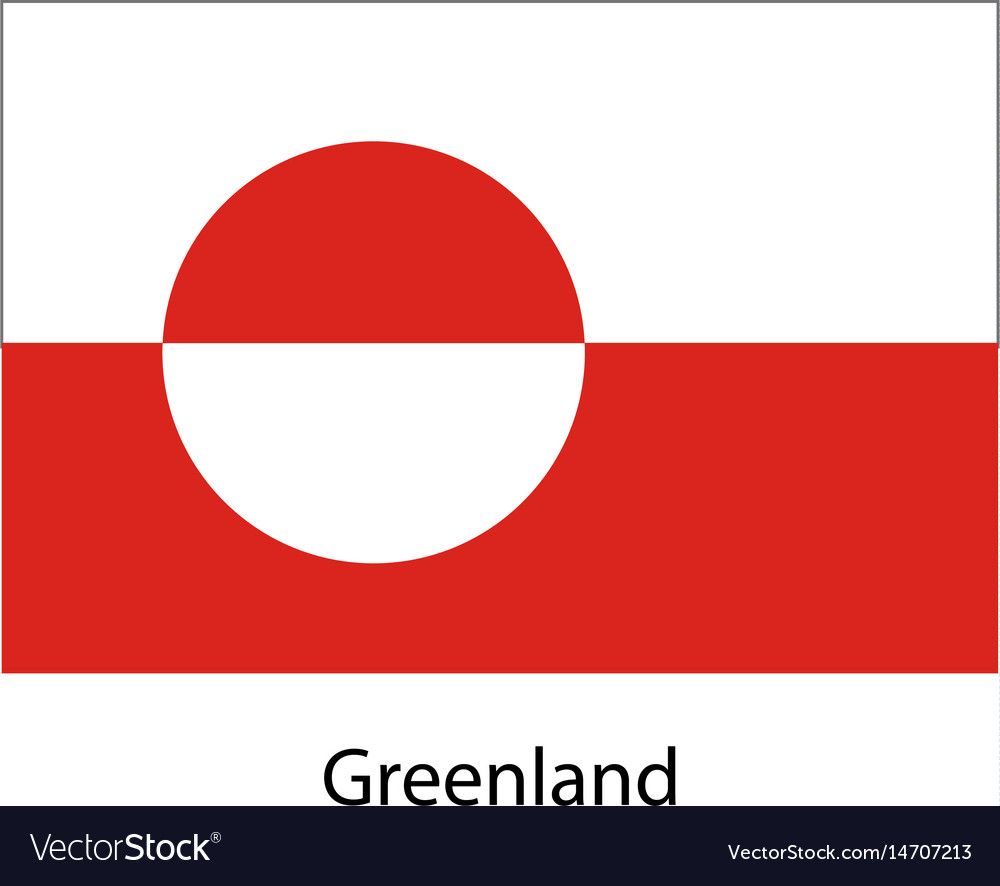 Greenland flag official colors and proportion