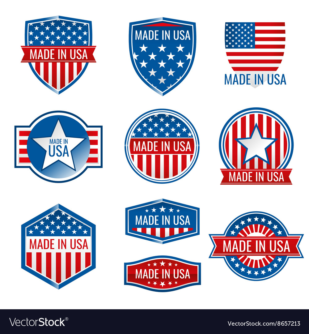 Made in USA icons
