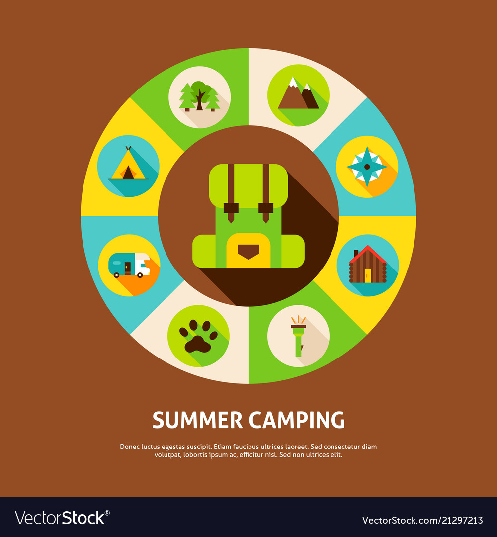 Summer camping concept