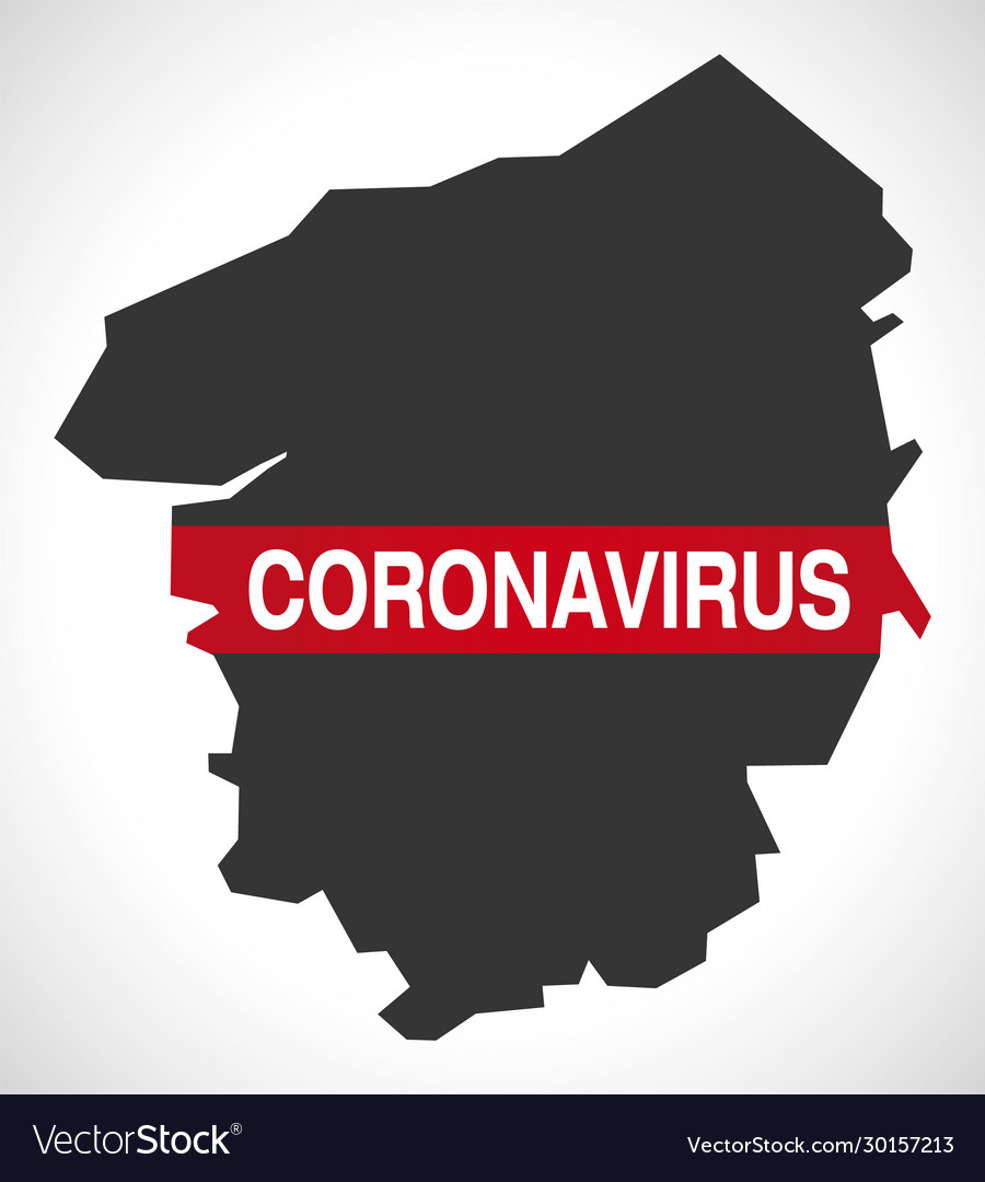 Upper Normandy France Region Map With Coronavirus Vector Image