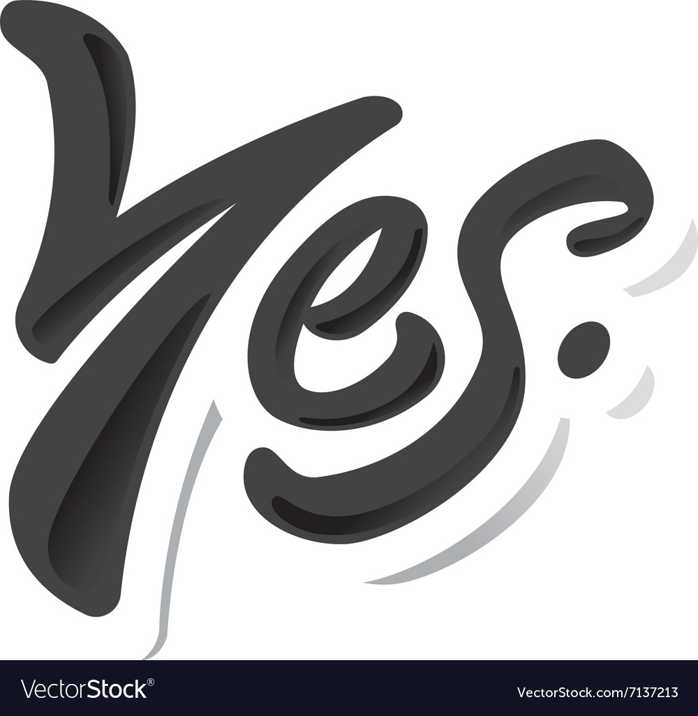 Yes lettering sketch royalty free vector image yes lettering sketch vector image altavistaventures Choice Image