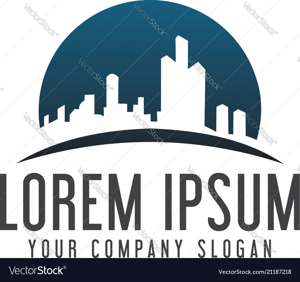 Building logo design concept template