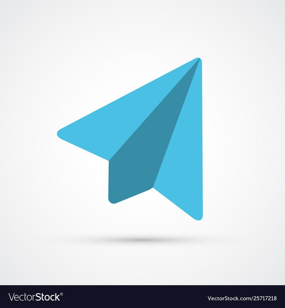 Colored paper plane trendy symbol