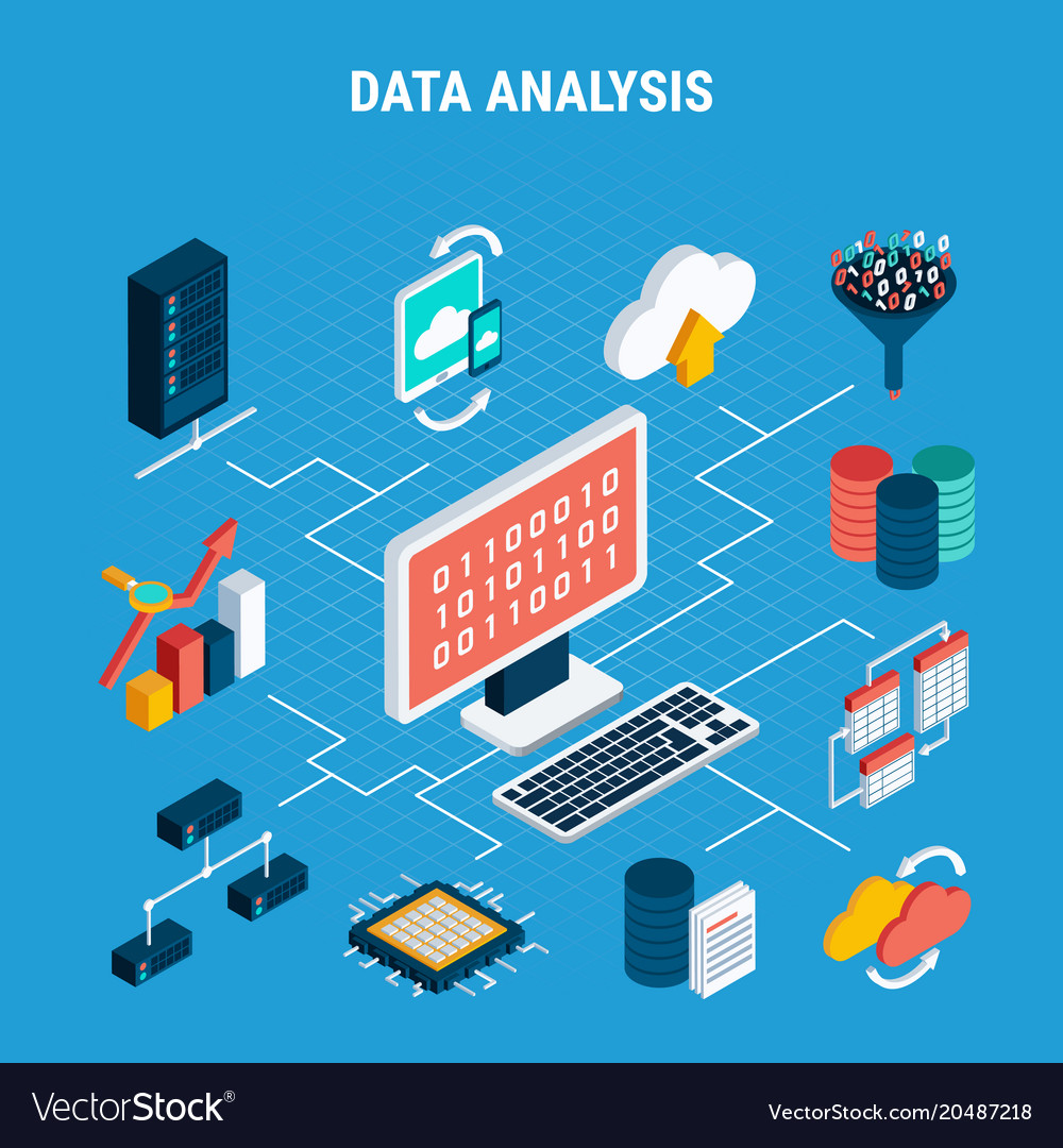 Data analysis isometric flowchart