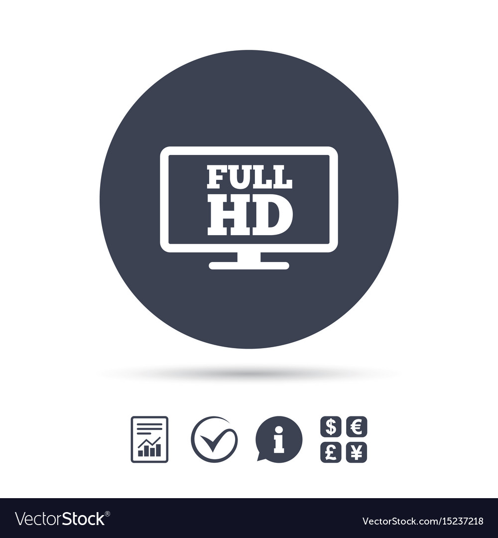 Full hd widescreen tv high-definition symbol vector image