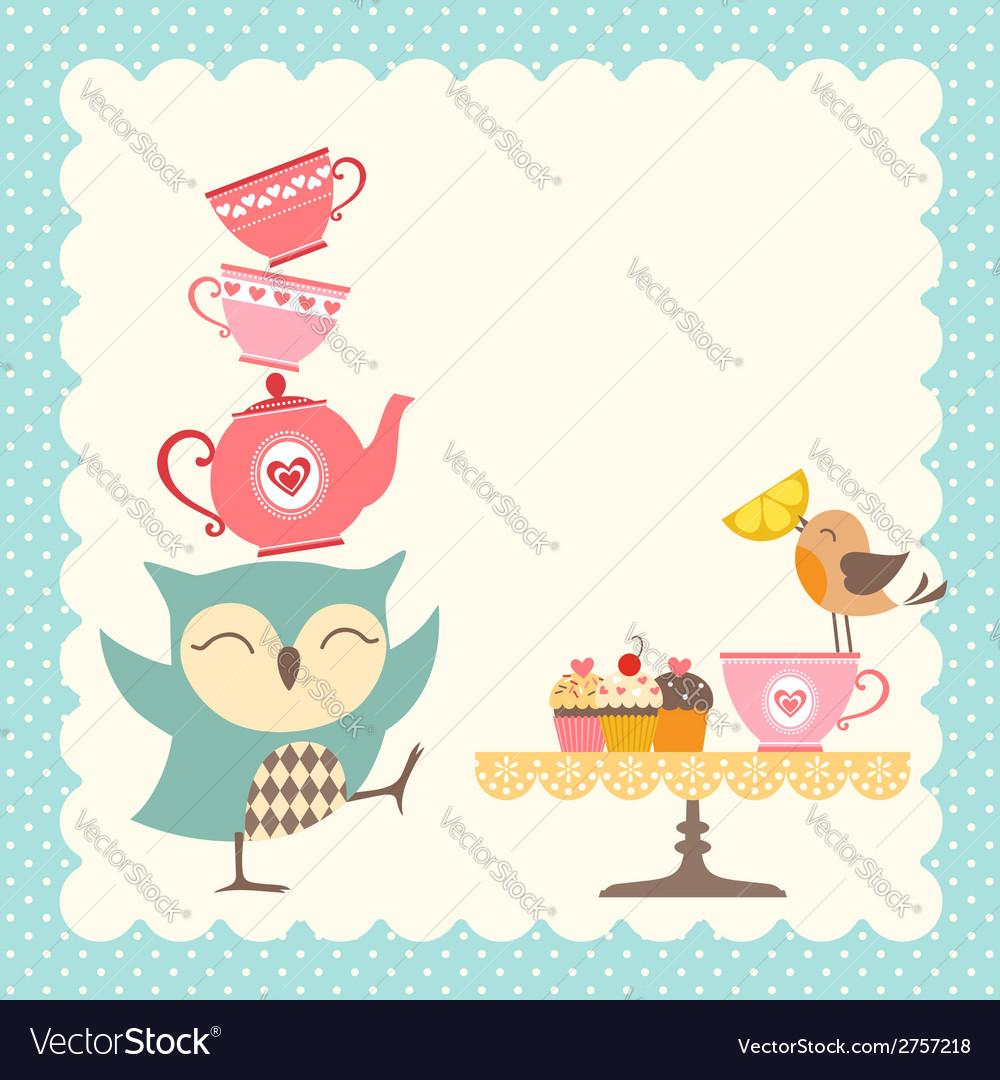 Owl tea time