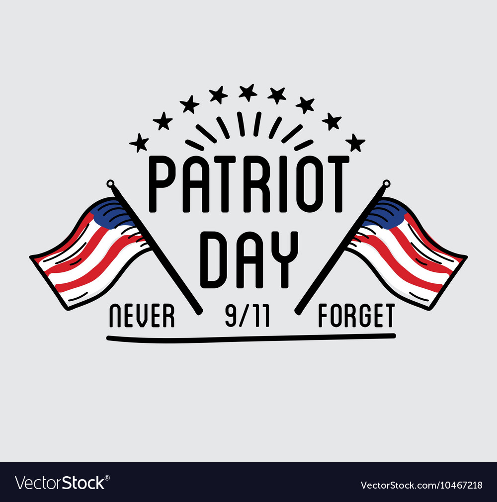 Patriot day label or baner
