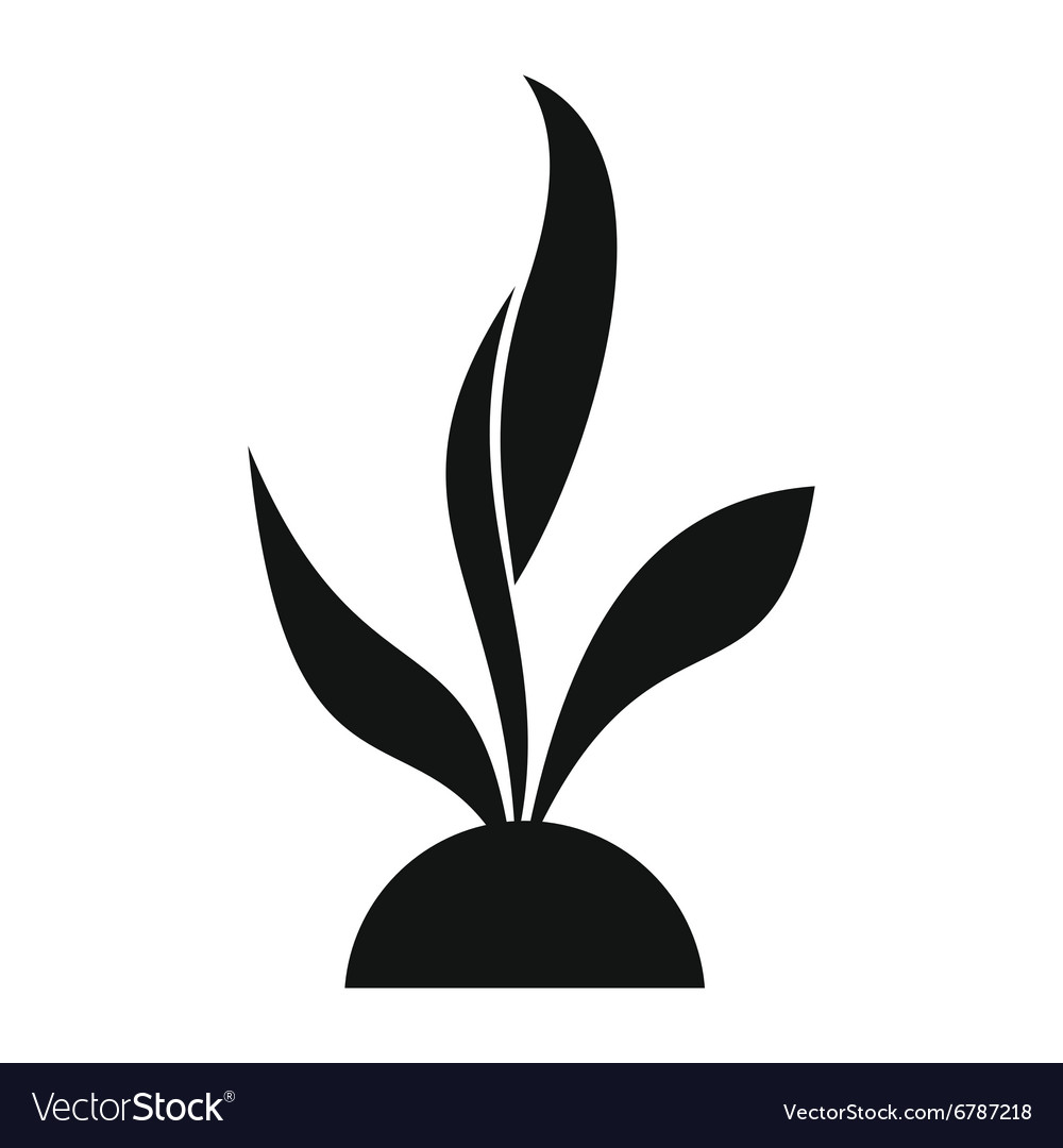 Plant seedling simple icon