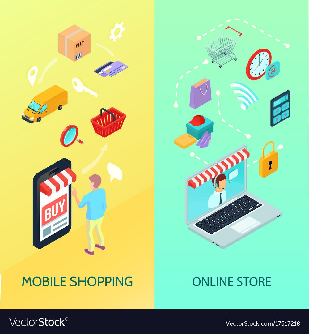 Shopping ecommerce banner set