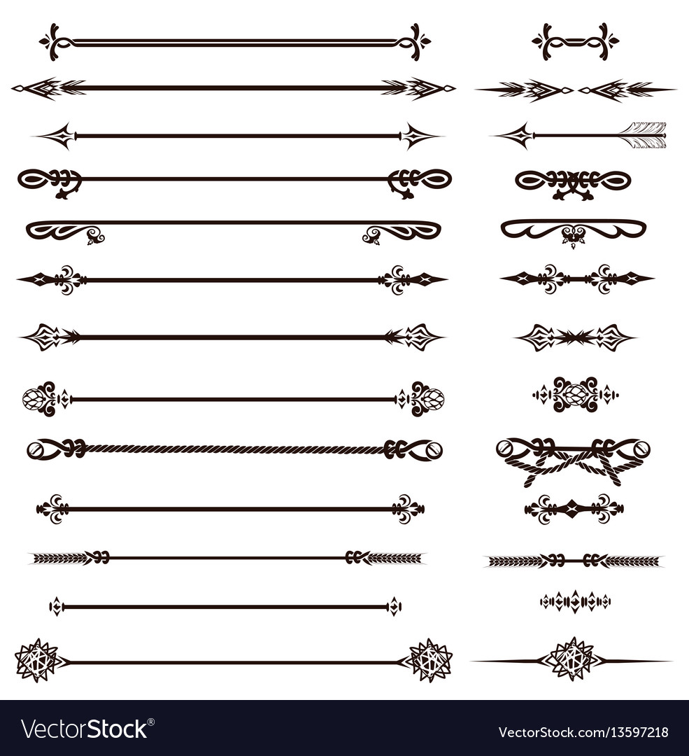 Vintage decoration pages and arrows vector image