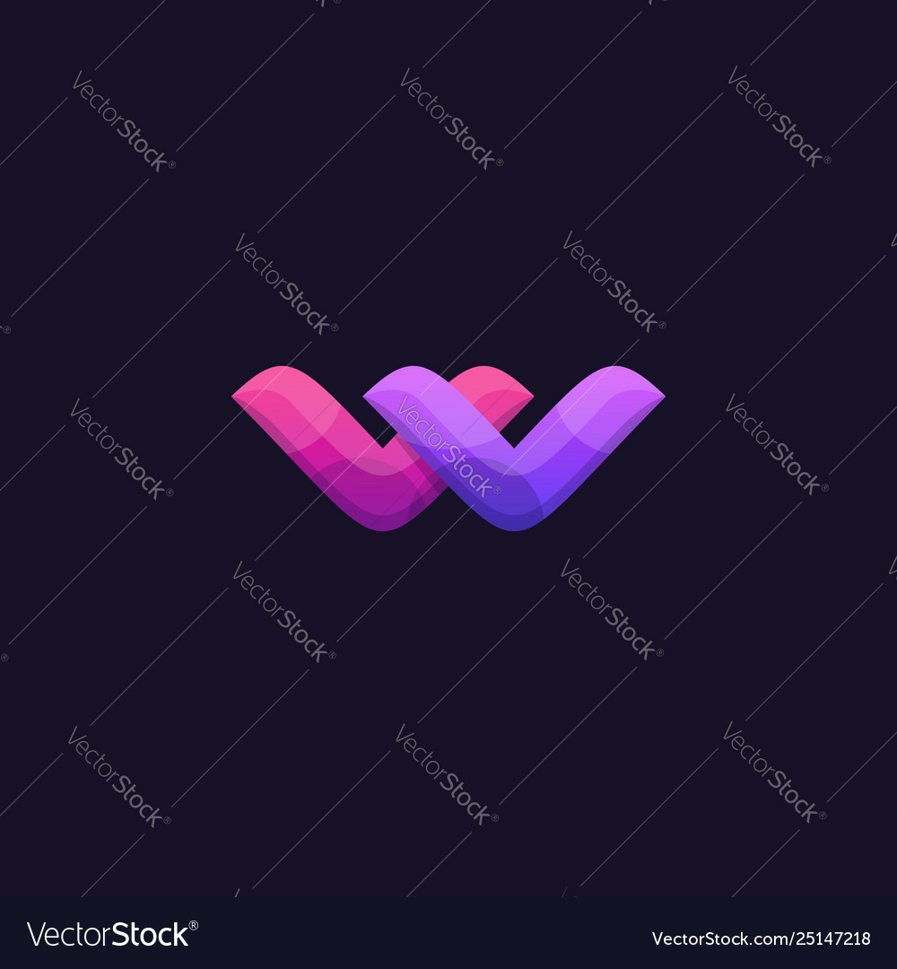 W abstract colorful template
