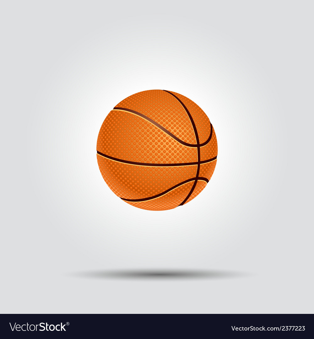 Basketball ball isolated on white with shadow