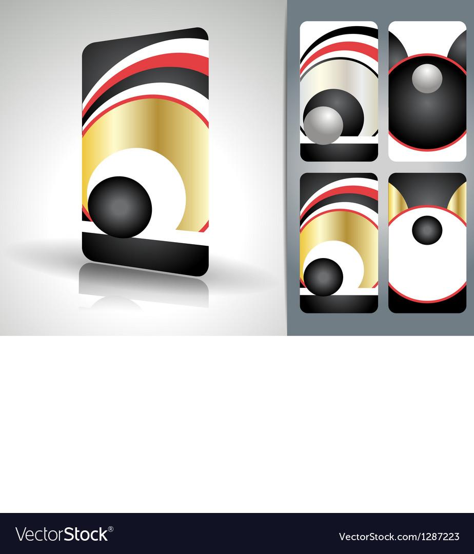 Beautiful business card set vector image