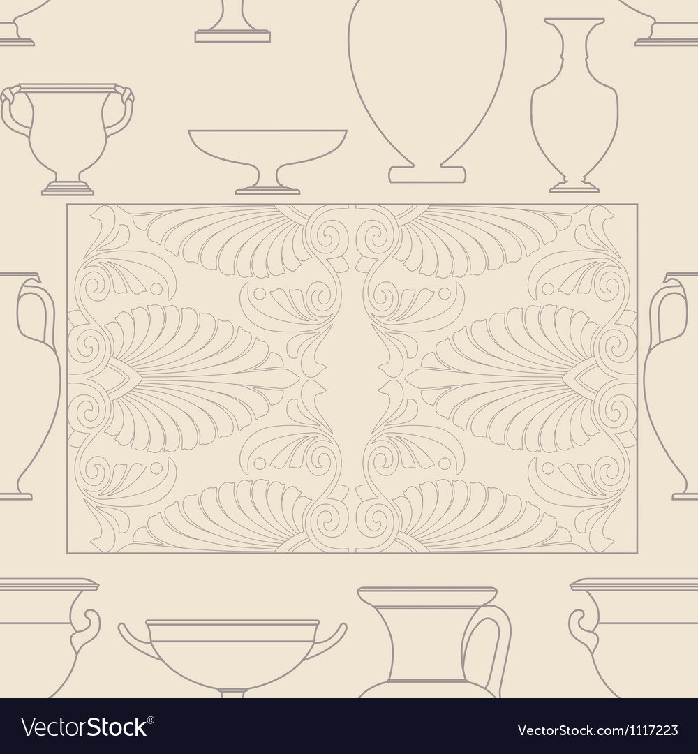Ceramic Ethnic national Greek style seamless